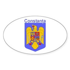Constanta, Romania Oval Decal