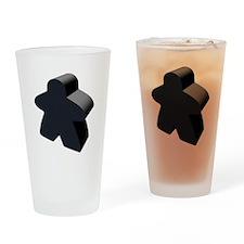 Black Meeple Drinking Glass
