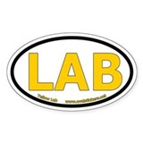 Yellow Lab Oval Car Decal