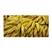Bunch of Ripe Yellow Bananas towel Beach Towel
