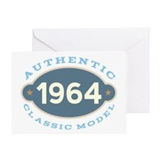 1964 Birthday (authentic classic) Greeting Cards