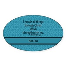 Philippians 4:13 Word teal Stickers