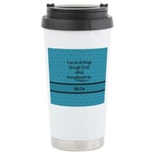 Philippians 4:13 Word t Travel Mug
