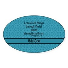 Philippians 4:13 Word teal Decal