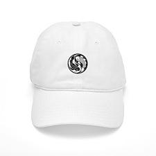 Black and White Yin Yang Koi Fish Hat
