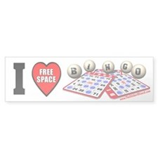 I Love BINGO Bumper Bumper Sticker