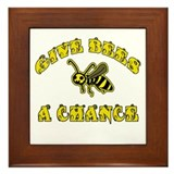 Give Bees a Chance Framed Tile