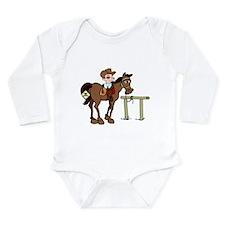 Funny Cowboy Long Sleeve Infant Bodysuit