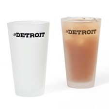 Detroit Hashtag Drinking Glass