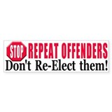 Stop repeat Offenders Bumper Bumper Sticker