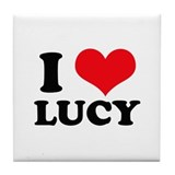 I Heart Lucy Tile Coaster