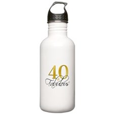 40 and Fabulous Black Water Bottle