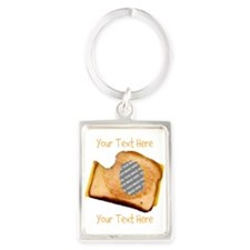 YOUR FACE Grilled Cheese Sandwic Portrait Keychain