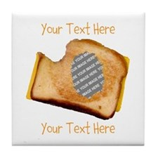 YOUR FACE Grilled Cheese Sandwich Tile Coaster