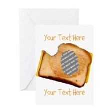 YOUR FACE Grilled Cheese Sandwich Greeting Card
