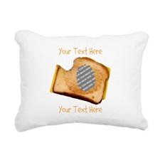 YOUR FACE Grilled Cheese Rectangular Canvas Pillow