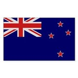 """New Zealand Flag"" Rectangle Decal"