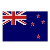 &quot;New Zealand Flag&quot; Postcards (Package of 8)
