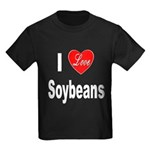 I Love Soybeans (Front) Kids Dark T-Shirt