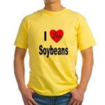 I Love Soybeans Yellow T-Shirt