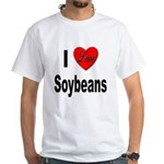 I Love Soybeans (Front) White T-Shirt
