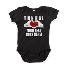 This Girl Loves Personalized Baby Bodysuit