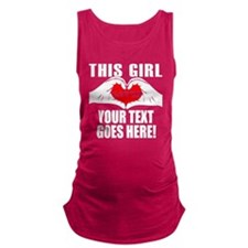 This Girl Loves Personalized Maternity Tank Top