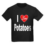 I Love Potatoes (Front) Kids Dark T-Shirt
