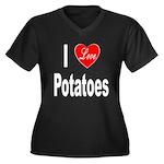 I Love Potatoes (Front) Women's Plus Size V-Neck D