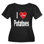 I Love Potatoes (Front) Women's Plus Size Scoop Ne