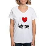 I Love Potatoes Women's V-Neck T-Shirt