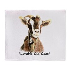 Lovable Old Goat Fun Quote for Him Throw Blanket