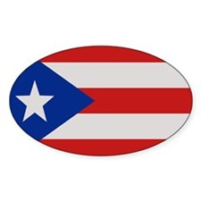 """Puerto Rico Flag"" Oval Decal"