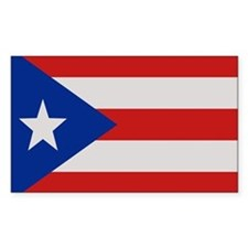 """Puerto Rico Flag"" Rectangle Decal"