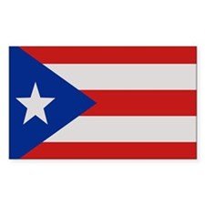 """""""Puerto Rico Flag"""" Rectangle Stickers"""