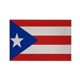 """Puerto Rico Flag"" Rectangle Magnet (100 pack)"