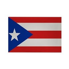 """""""Puerto Rico Flag"""" Rectangle Magnet (100 pack)"""