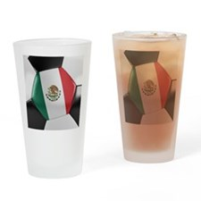 Mexico Soccer Ball Drinking Glass