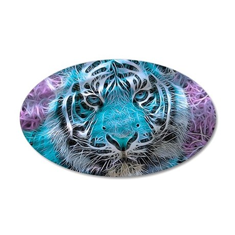 Crazy blue Tiger (C) Wall Decal