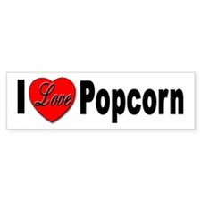 I Love Popcorn Bumper Car Sticker