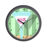 Dentures False Teeth Martini Wall Clock