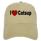I Love Catsup Baseball Cap