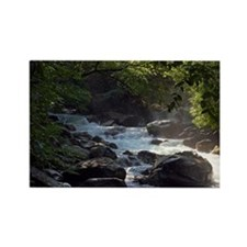Smoky Mountain Stream Rectangle Magnet
