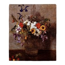 Fantin - Diverse Flowers Throw Blanket