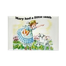 Mary Had a Little Lamb Rectangle Magnet (10 pack)