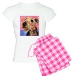 Airedale Terrier Dog Pink Women's Light Pajamas