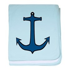 Boat anchor baby blanket