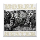 morel hunter game pole Tile Coaster