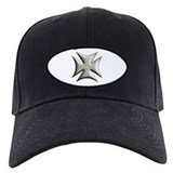 Titanium Chrome Biker Cross Baseball Hat