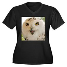 Snowy Owl Close-Up Plus Size T-Shirt